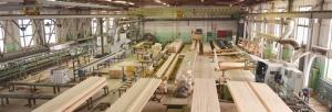 Обработка досок. Второй этап производства клееного бруса.